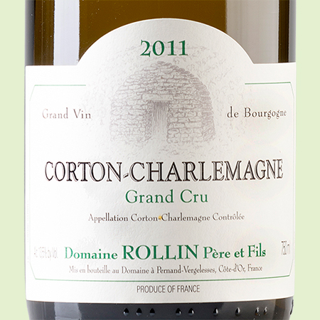 etiketa Corton Charlemagne Rollin
