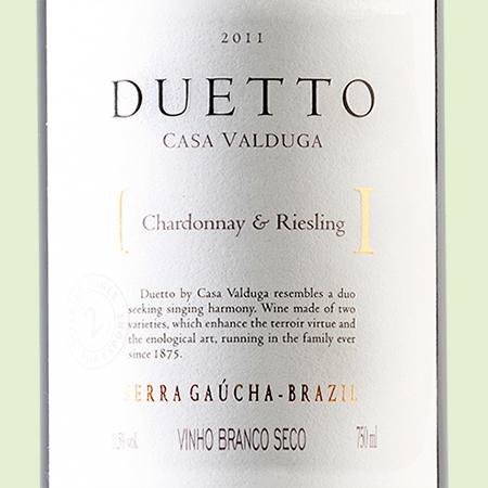 etiketa Duetto Chardonnay Riesling