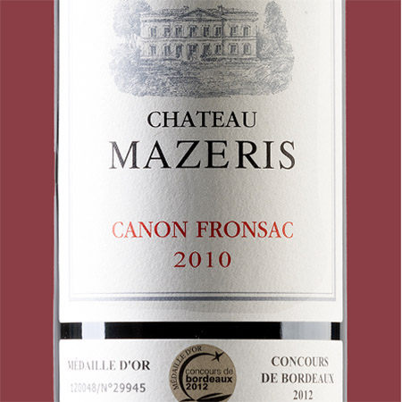 etiketa Chateau Mazeris Canon-Fronsac