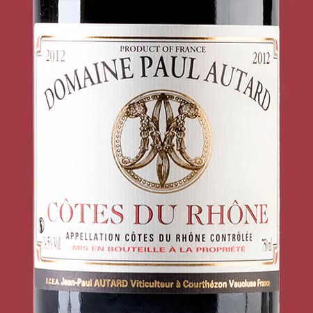 etiketa Cotes du Rhone