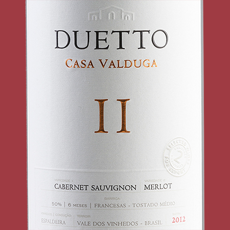 etiketa Duetto Cabernet Sauvignon-Merlot