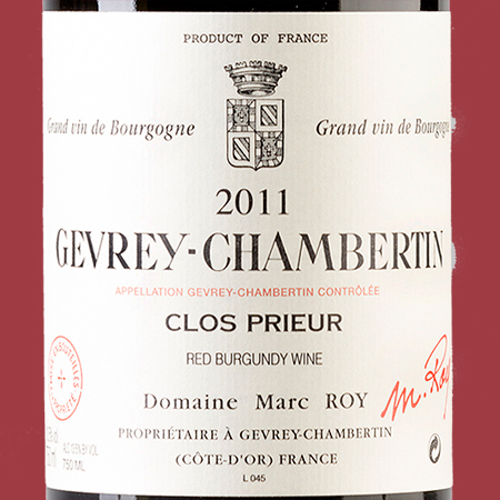 etiketa Gevrey Chambertin Clos Prieur