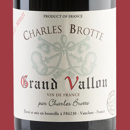 etiketa Grand Vallon Vin d'Pays Rouge