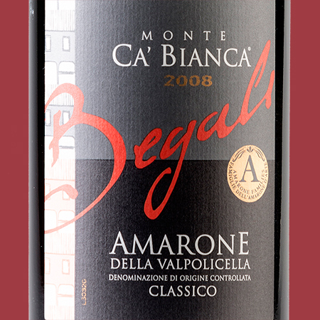 etiketa Monte Ca' Bianca Amarone della Valpolicella