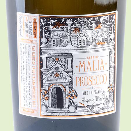 etiketa Prosecco Frizzante DOC Casa di Maglia Organico