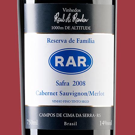 etiketa RAR Cabernet Sauvignon-Merlot