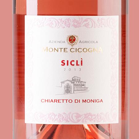 etiketa Sicli Chiaretto Monte