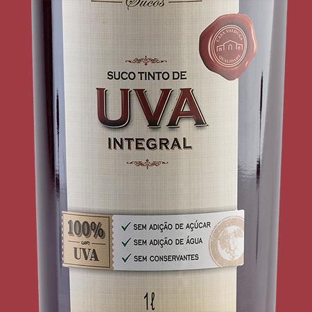 etiketa Suco Tinto de Uva Integral